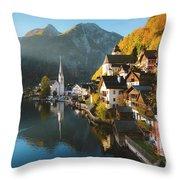 Hallstatt First Light Throw Pillow