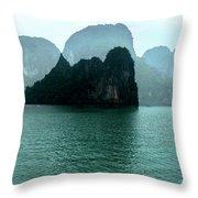 Halong Bay Mountains, Vietnam Throw Pillow