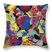 Hammer Flowers Throw Pillow