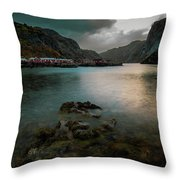Hamnoy, Lofoten Islands Throw Pillow