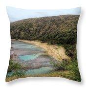 Hanauma Bay Beach Park Throw Pillow