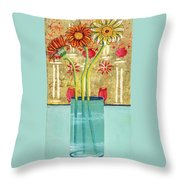 Indian Hand Painted Palace Wall Throw Pillow