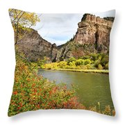 Hanging Lake Rest Stop On I-70 Throw Pillow by Ray Mathis