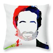 Hank Moody Watercolor Throw Pillow
