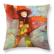 Happy Clown Throw Pillow by Michelle Abrams