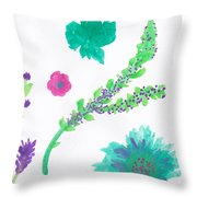 Happy Flower - Pintoresco Art By Sylvia Throw Pillow