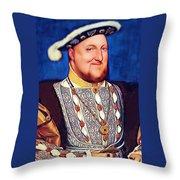 Happy Henry Throw Pillow
