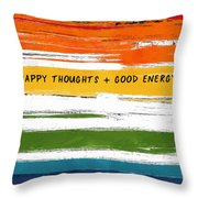 Happy Thoughts Rainbow- Art By Linda Woods Throw Pillow