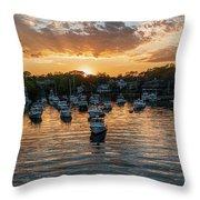 Harbor Sunset Throw Pillow