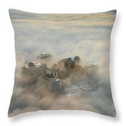Harborview In The Clouds Throw Pillow