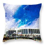 Hard Rock Beach Abstract Throw Pillow