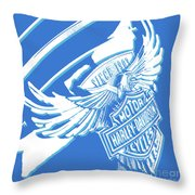 Harley Davidson Tank Logo Abstract Artwork Throw Pillow