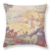 Harmonious Times By Signac Throw Pillow