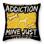 Harrier Funny Dog Addiction Throw Pillow