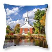 Harrisville, New Hampshire Church Throw Pillow