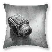 Hasselblad On The Floor Throw Pillow