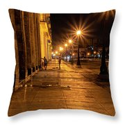Havana Street Lights Throw Pillow by Tom Singleton