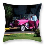 Havana Taxi Throw Pillow by Tom Singleton
