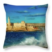 Havana's Morro Castle Throw Pillow