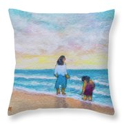 Hawaii Beach #492 Throw Pillow