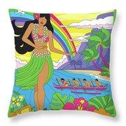 Hawaii Poster - Pop Art - Travel Throw Pillow
