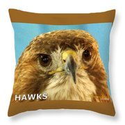 Hawks Mascot 4 Throw Pillow