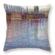 Hawthorn Bridge Throw Pillow