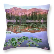 Hayden Peak And Butterfly Lake, Uinta Throw Pillow