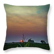 Hazy Summer Sunset Throw Pillow