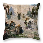 He That Is Without Sin, 1908 Throw Pillow