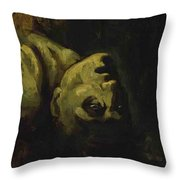 Head Of A Drowned Man Throw Pillow