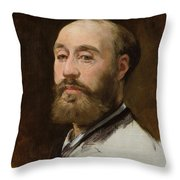 Head Of Jean Baptiste Faure        Throw Pillow