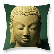 Head Of The Buddha, Sarnath Throw Pillow
