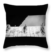 Hear, Speak And See Throw Pillow