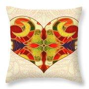 Heart Illustration - Creating Passionate Experience - Omaste Witkowski Throw Pillow by Omaste Witkowski