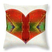 Heart Painting - Vibrant Dreams - Omaste Witkowski Throw Pillow by Omaste Witkowski