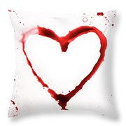 Heart Shape From Splaches And Blobs Throw Pillow