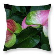 Hearts At Ease Throw Pillow