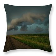 Heather's Birthday Storm Throw Pillow
