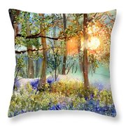 Heathers In Gold Throw Pillow