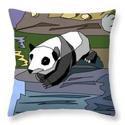Heathers Panda V2 Throw Pillow