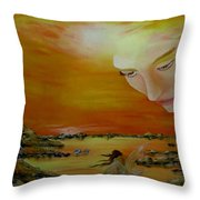 Heavenly Protection Throw Pillow