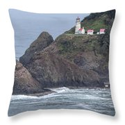 Heceta Head Light Throw Pillow