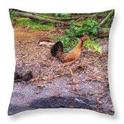 He'eia Kea Chickens Throw Pillow