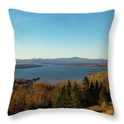 Height Of Land In Maine Throw Pillow by Jeff Folger