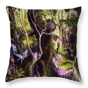 Heist Of The Wizard's Staff Throw Pillow