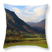 Helm Crag And Wythburn Fells Above Grasmere In The Lake District Throw Pillow