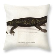 Heloderma Horridum, Beaded Lizard Throw Pillow by Unknown