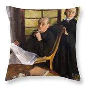 Henri Degas And His Niece Lucie Degas Throw Pillow