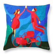Henry And Clara Ford Throw Pillow